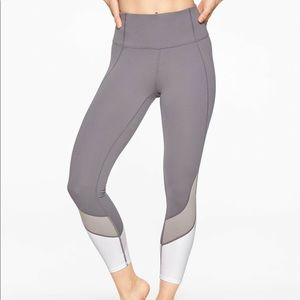 ATHLETA Colorblock Salutation 7/8 Tight Gray XS